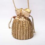 bombonera bolso de fiesta dorado gold