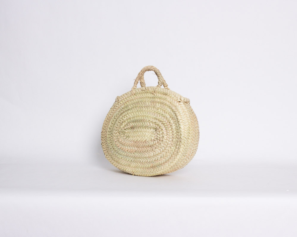 Bolso Ovalado Pequeño de Palma Natural Marruecos