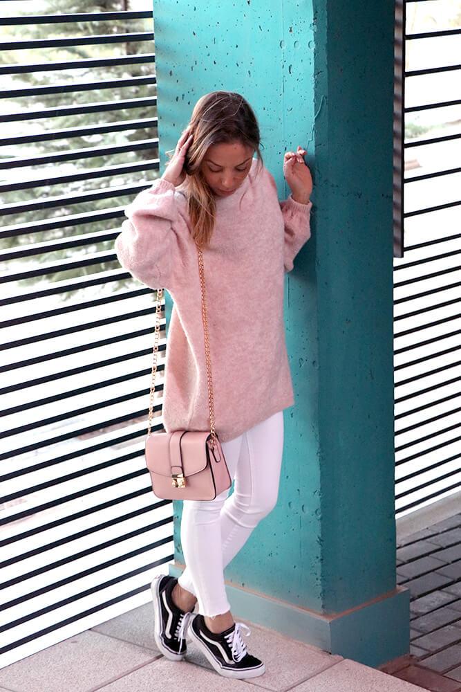 bolso bandolera rosa