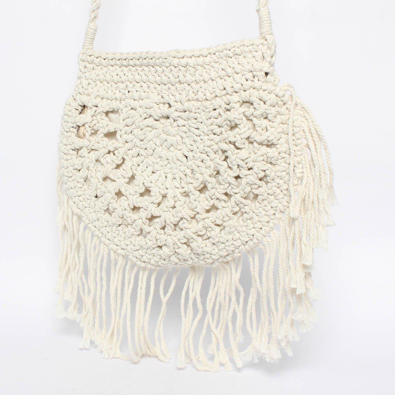 Bolso de Crochet Redondo